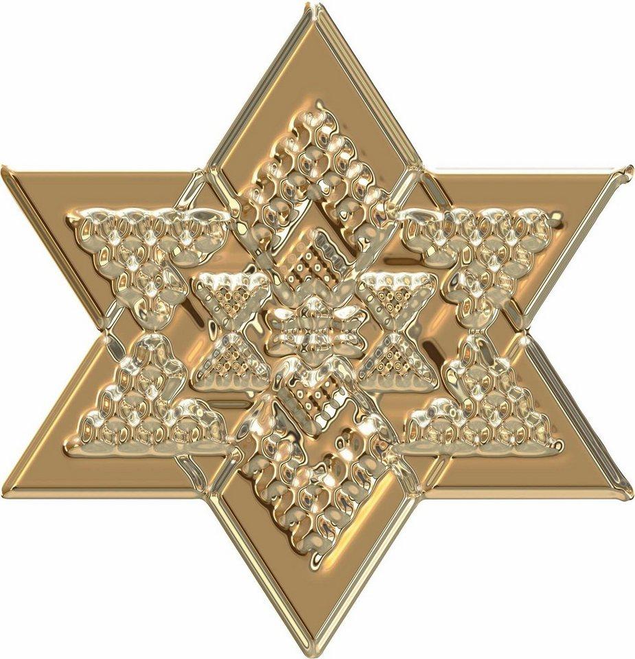 Ansprechend Wandtattoo Gold Beste Wahl »metallic Star Gold«, In 3 Größen