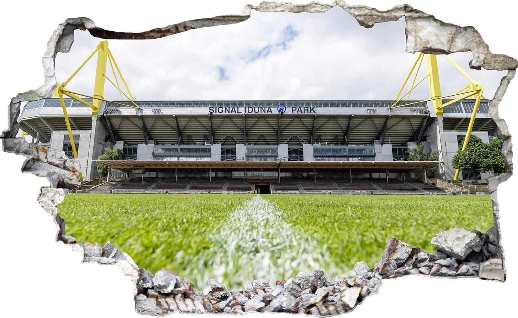 3D Wandtattoo »BVB Signal Iduna Park bei Tag«, in 2 Größen   Dekoration > Wandtattoos > Wandtattoos