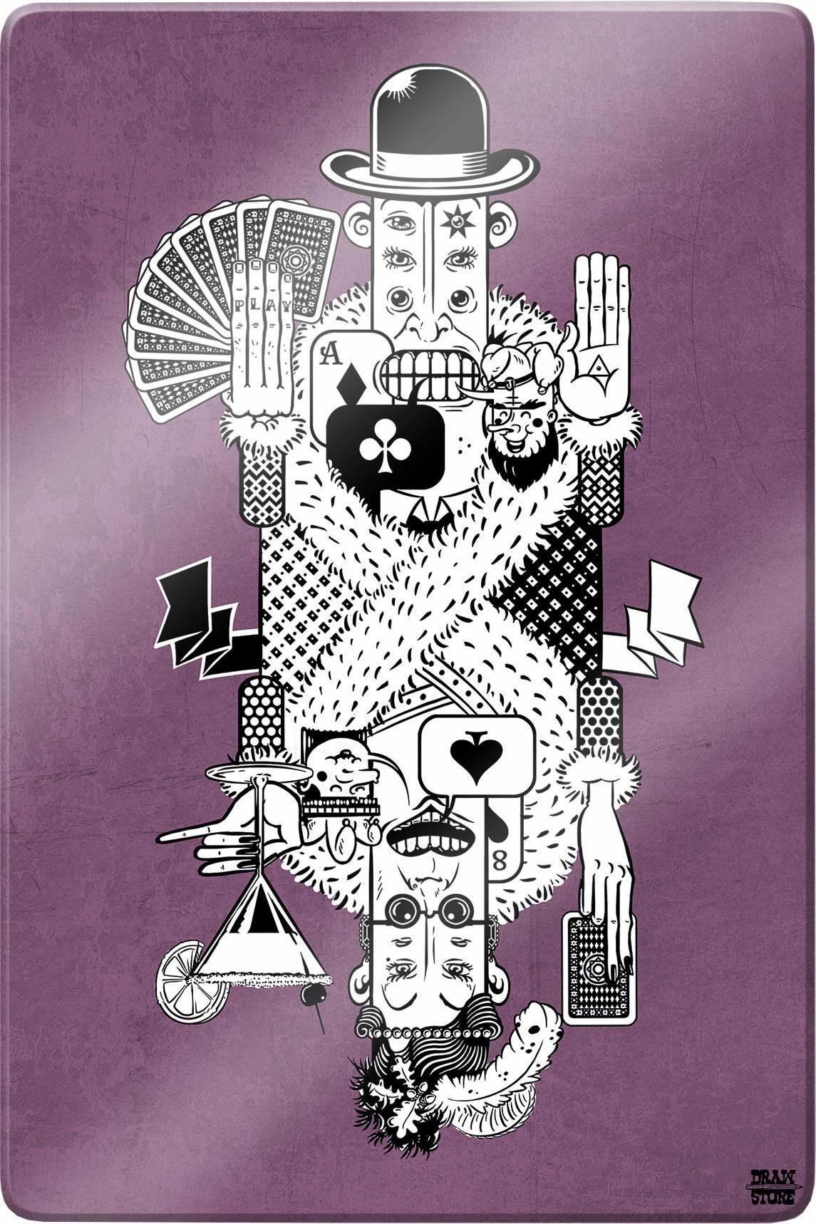 Glasbild »Drawstore - Playing Cards«, 40/60 cm