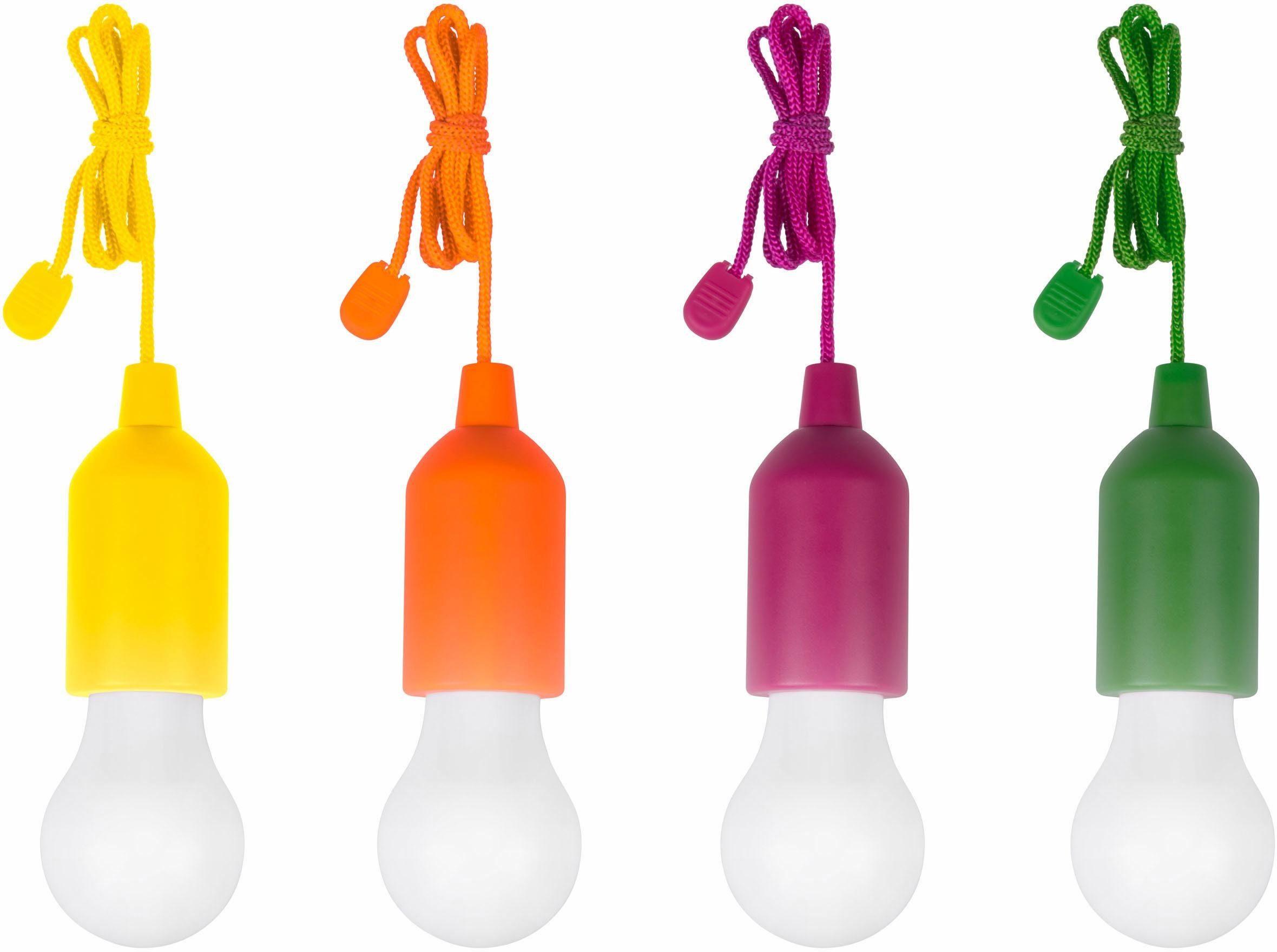 TV Werbung LED kabellose Allzweckleuchte, 4er-Set, »HandyLUXcolors «