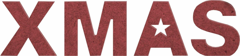 MDF Holzbuchstaben »XMAS«, 60/15 cm