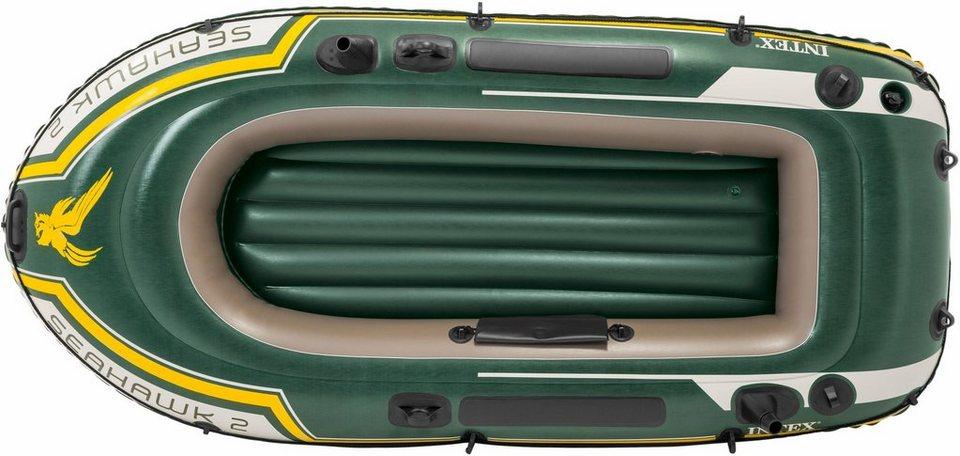 intex schlauchboot seahawk 2 set mit 2 paddeln und. Black Bedroom Furniture Sets. Home Design Ideas