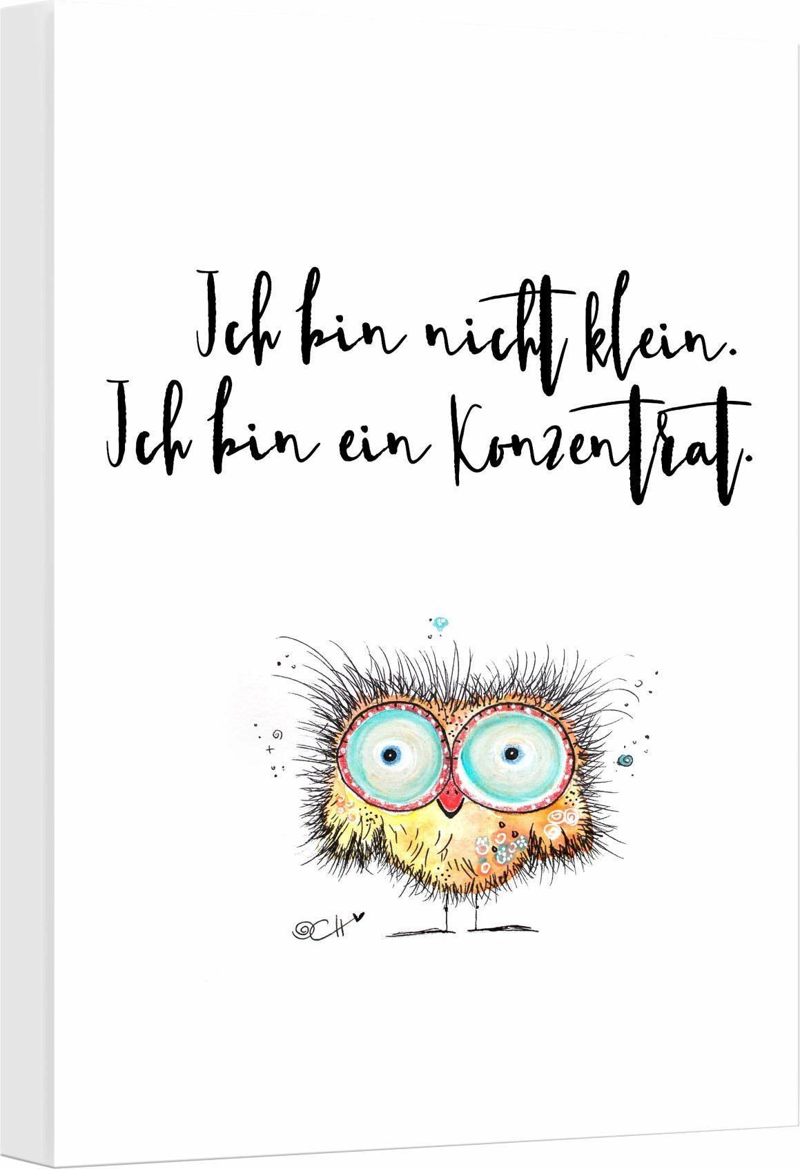 Leinwandbild »Hagenmeyer - Ich bin nicht klein…«, 30/45 cm