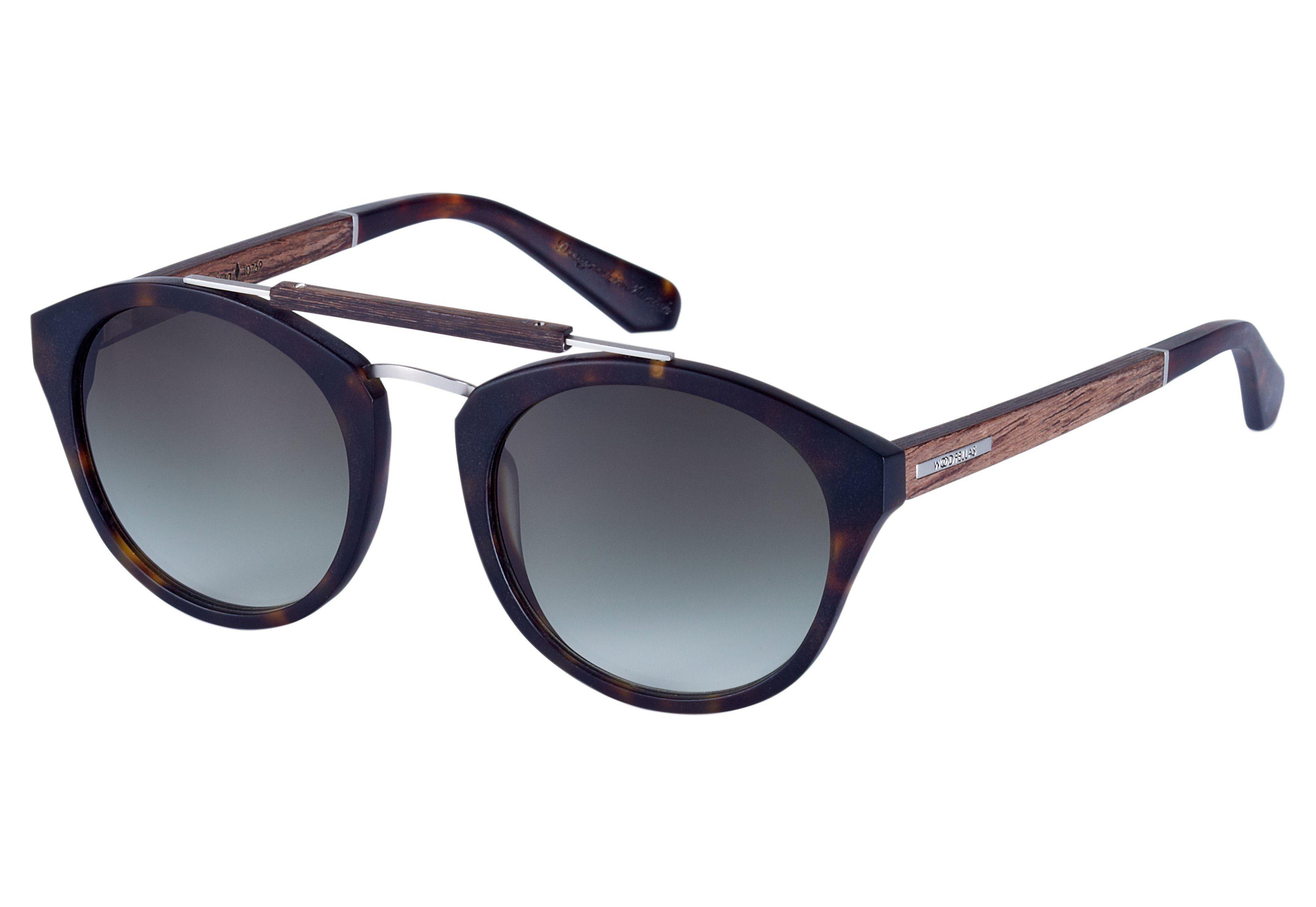 WOOD FELLAS Damen Sonnenbrille inkl. Faltetui und Microfasertuch