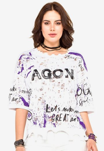 Cipo & Baxx T-Shirt mit coolem Allover-Print