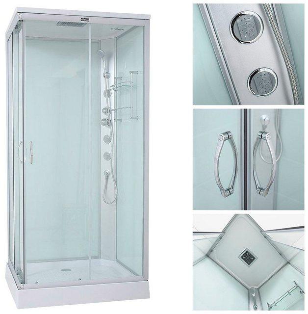 Duschen und Zubehör - HOME DELUXE Komplettdusche »Venus L«, BxT 100x80 cm, Sicherheitsglas, 1 tlg., mit Soft Close Schließung  - Onlineshop OTTO