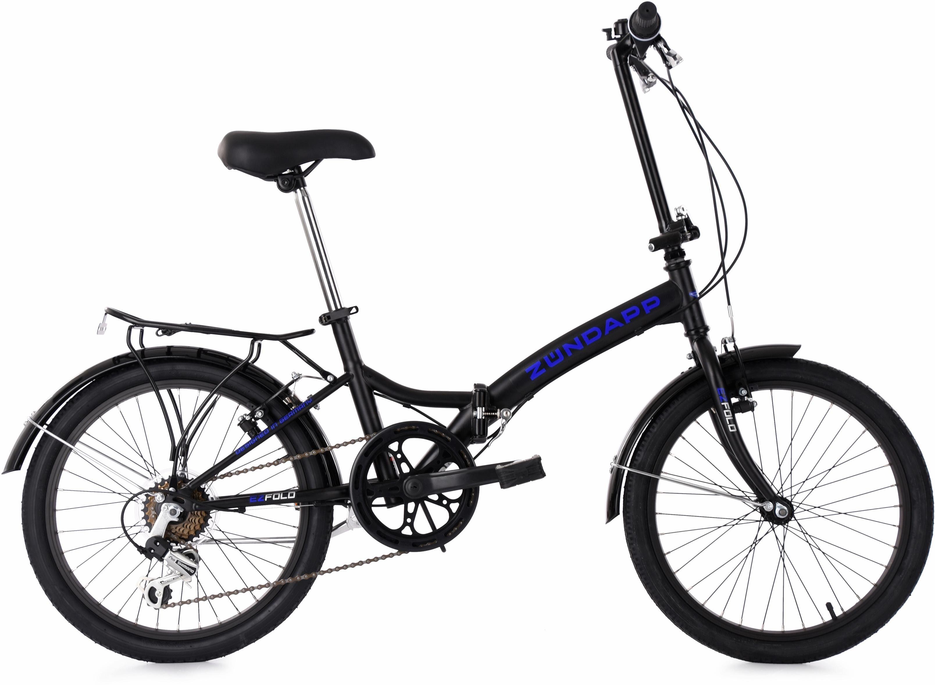 KS Cycling Faltrad »EZFold«, 6 Gang Shimano SHIMANO Tourney Schaltwerk, Kettenschaltung