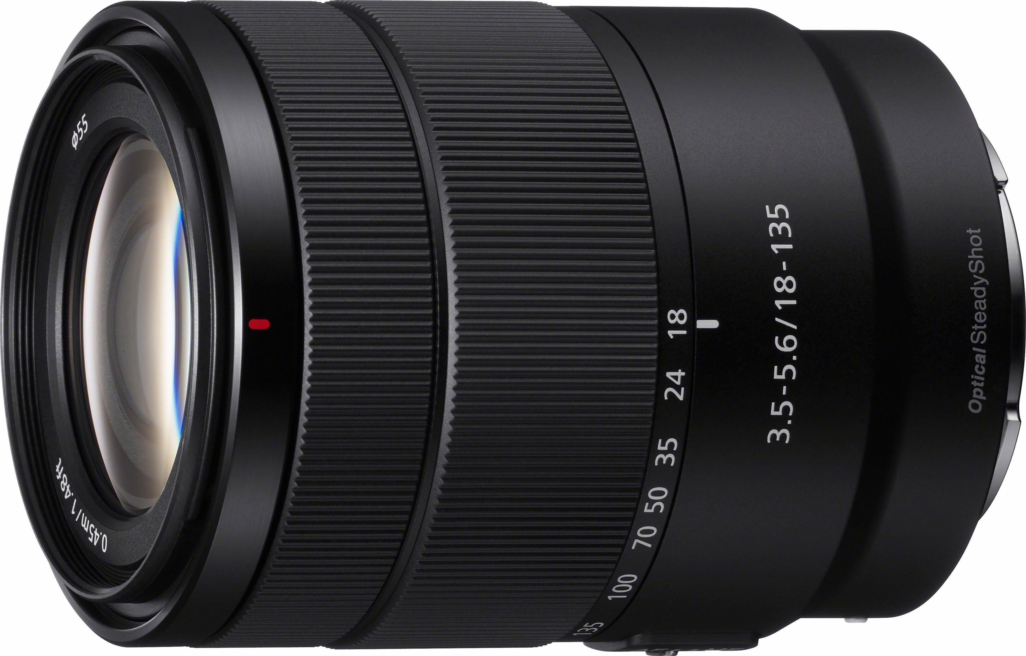 Sony SEL-18135 Zoom Objektiv 18-135mm F3.5-5.6 OSS (E-Mount APS-C für A5000/A5100/A6000 Serien & Nex)