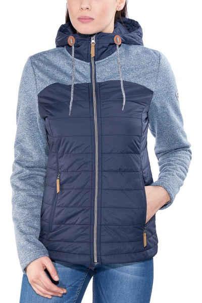 Damen outdoorjacke hybrid jacket nagano