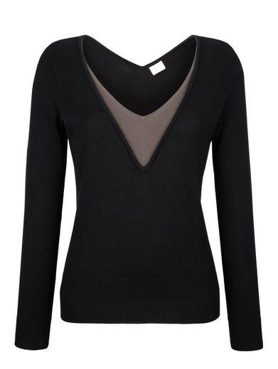 Alba Moda Pullover in modischer 2-in-1-Optik