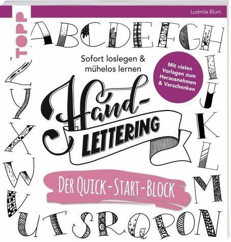 Broschiertes Buch »Handlettering. Der Quick-Start-Block«