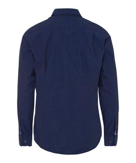 BRAX Harold - Herrenhemd Smartes Hi-Flex-Hemd mit modischem Minimalmuster