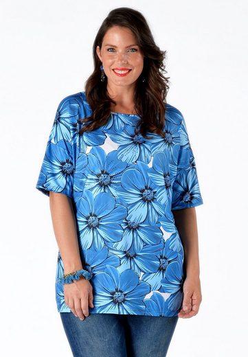 Yoek T-Shirt STRASS, mit floralem Druck
