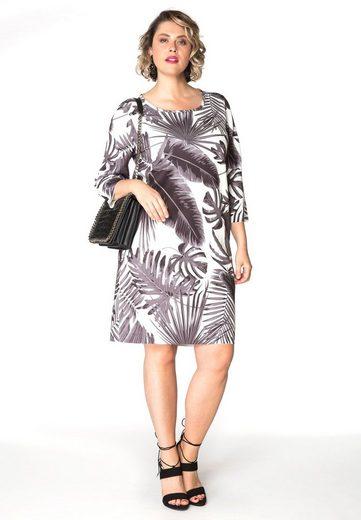 Yoek Printing Dress Scuba