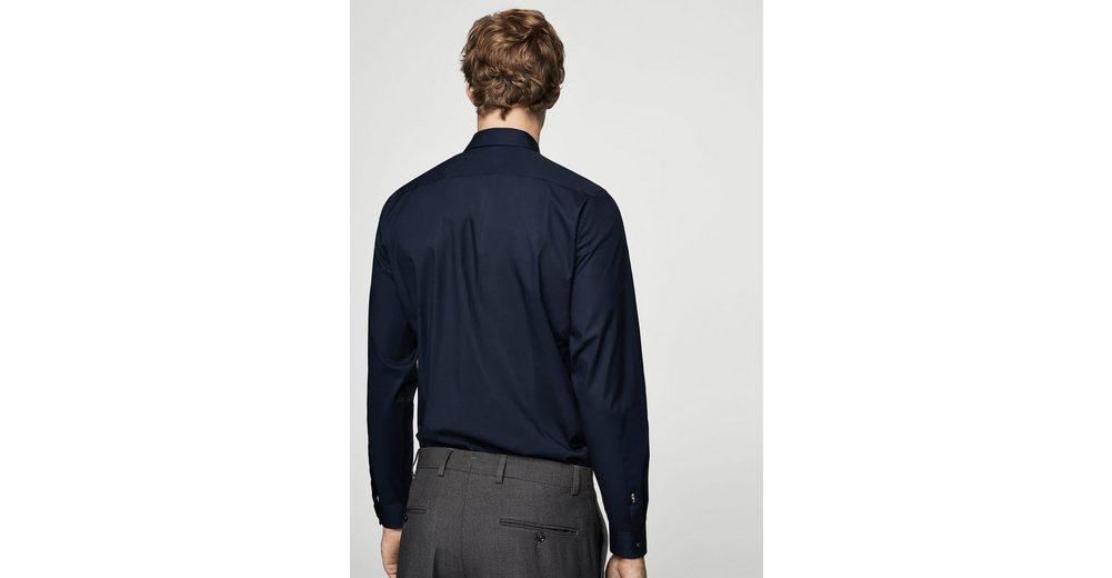 MANGO MAN Slim Fit Tailored-Hemd, Baumwolle