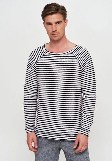 Ordinary Truffle Sweatshirt »LARS« mit trendigem Streifenmuster