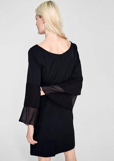 s.Oliver BLACK LABEL Figurbetonetes Kleid mit Volantärmeln
