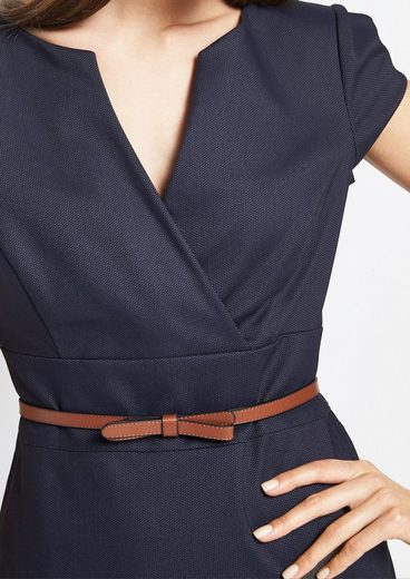 COMMA Smartes Businesskleid mit feinem Mikromuster
