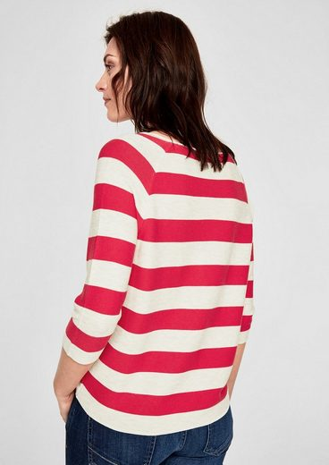 S.oliver Red Label Ribbed Sweaters With Block Stripes