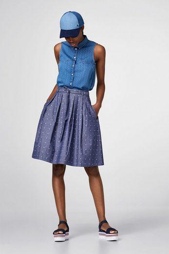 Wit Denim Skirt 100% Cotton
