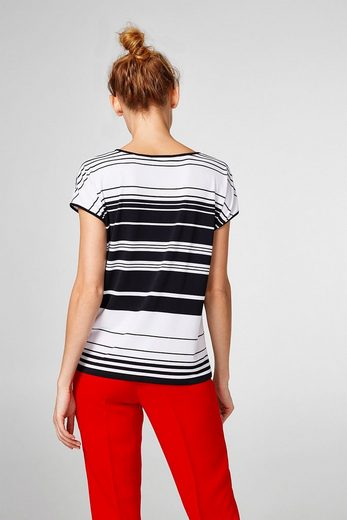 ESPRIT COLLECTION Glattes Stretch-Shirt mit Kontrasten