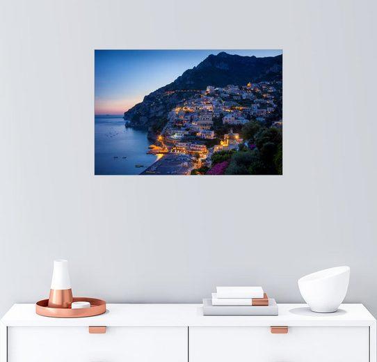 Posterlounge Wandbild - Brian Jannsen »Positano am Abend«
