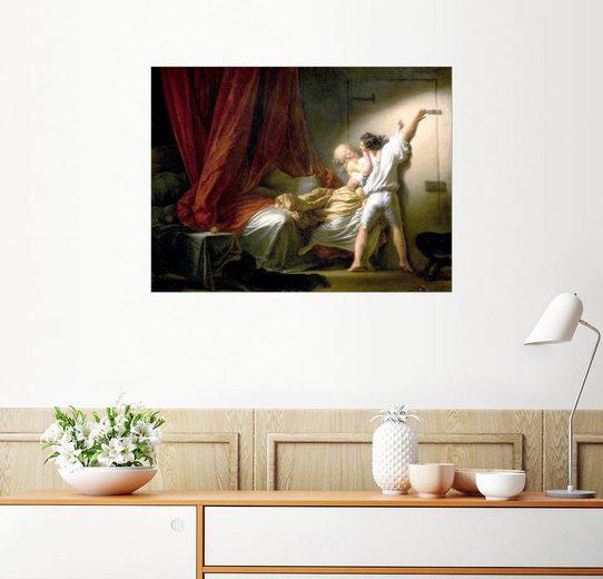 Posterlounge Wandbild - Jean-Honoré Fragonard »Der Riegel«
