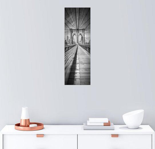 Posterlounge Wandbild - Melanie Viola »NEW YORK CITY Brooklyn Bridge Panorama«