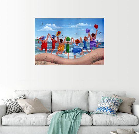 Posterlounge Wandbild - Peter Adderley »Strandparty, Regenbogen Szene«