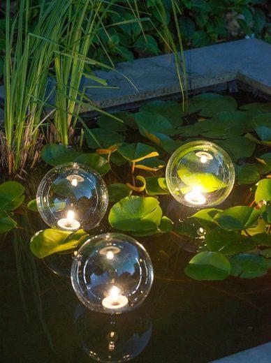 UBBINK Teichbeleuchtung »MultiBright Float 3 LED«, 3 Kugeln, warmweiß