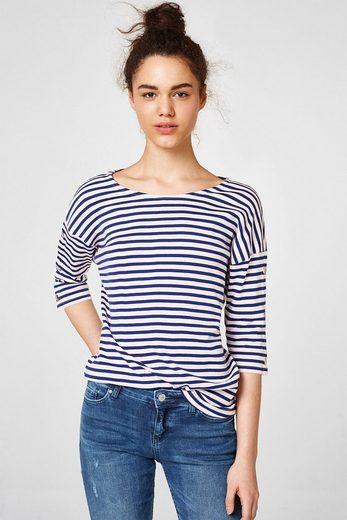 ESPRIT Geringeltes T-Shirt mit Organic Cotton