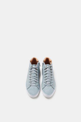 ESPRIT Knöchelhoher Sneaker in Leder-Optik