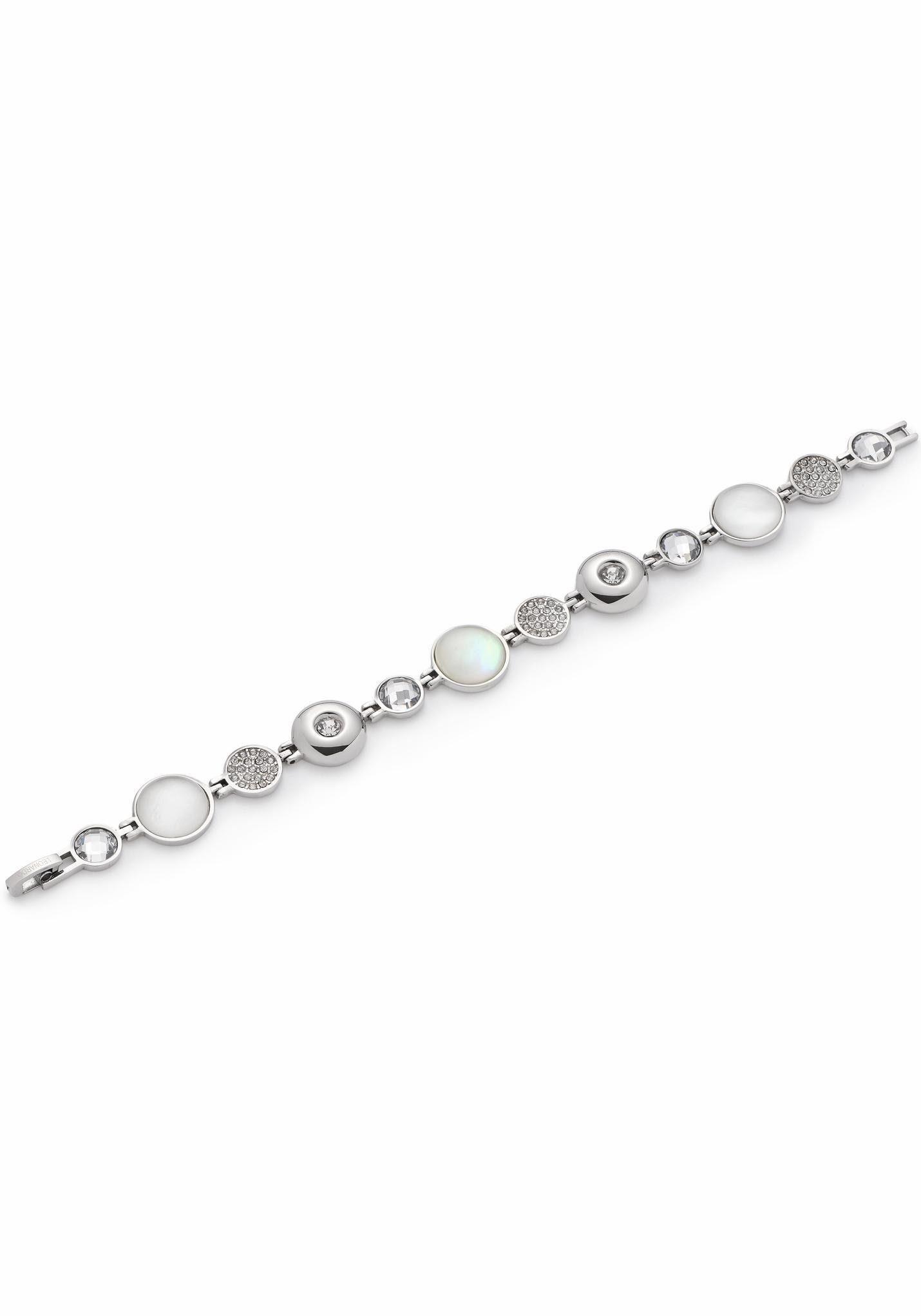 LEONARDO Edelstahlarmband »Alexia, 016511« mit Perlmutt, Glas- und Kristallsteinen