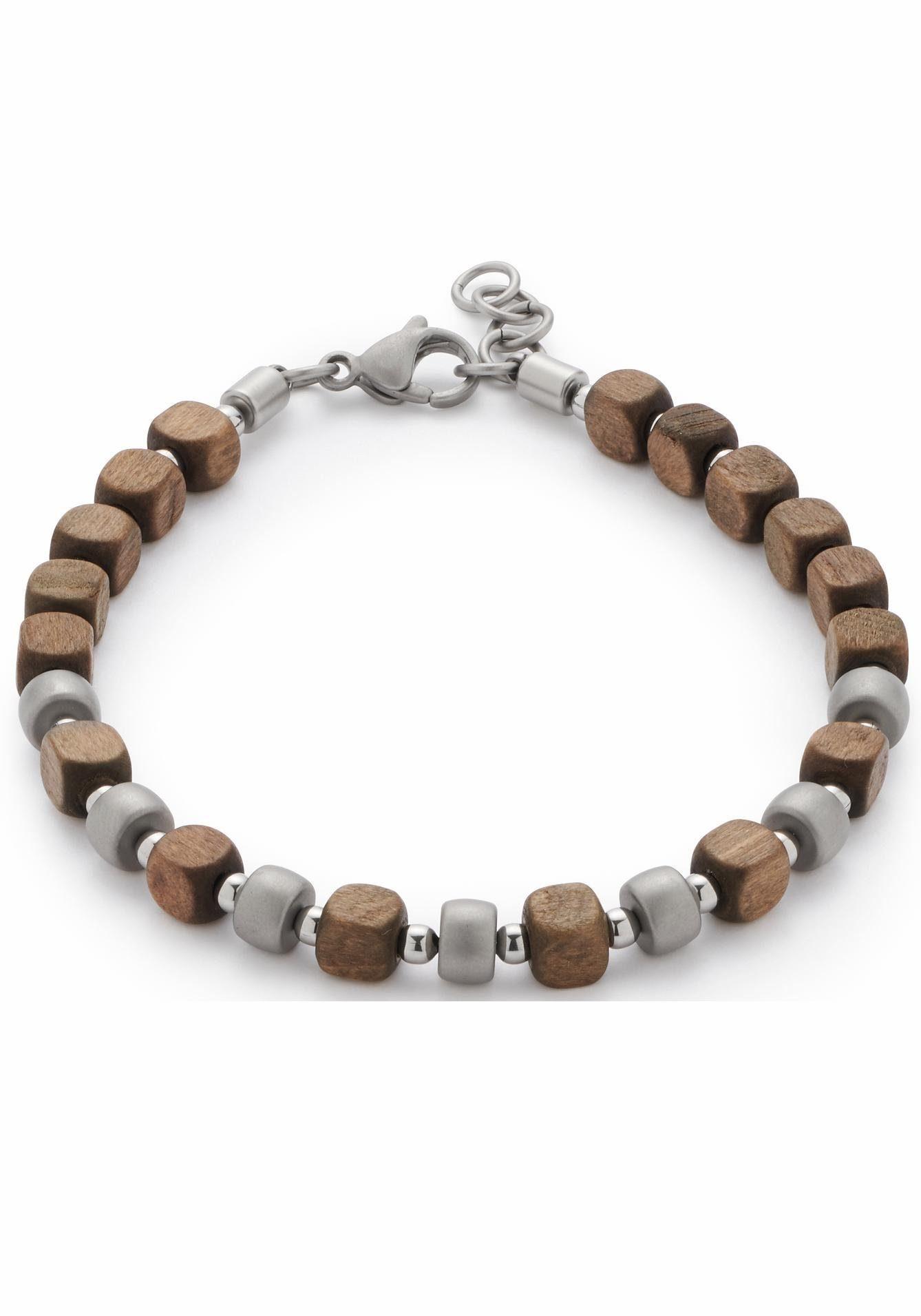 LEONARDO Armband »Ernesto Men, 016562«, mit Holzperlen