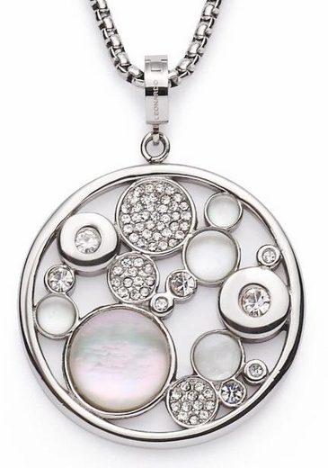 LEONARDO Kette mit Anhänger »Alexia, 016510«, mit Perlmutt, Glas- und Kristallsteinen