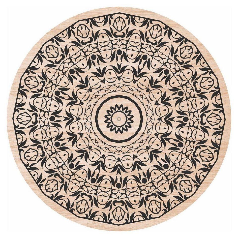Home affaire Holzbild »Blumenranken«, Blumen, 30/30 cm ...