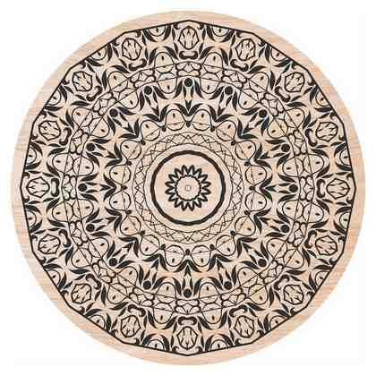 Home affaire Holzbild »Blumenranken«, Blumen, 30/30 cm, rund