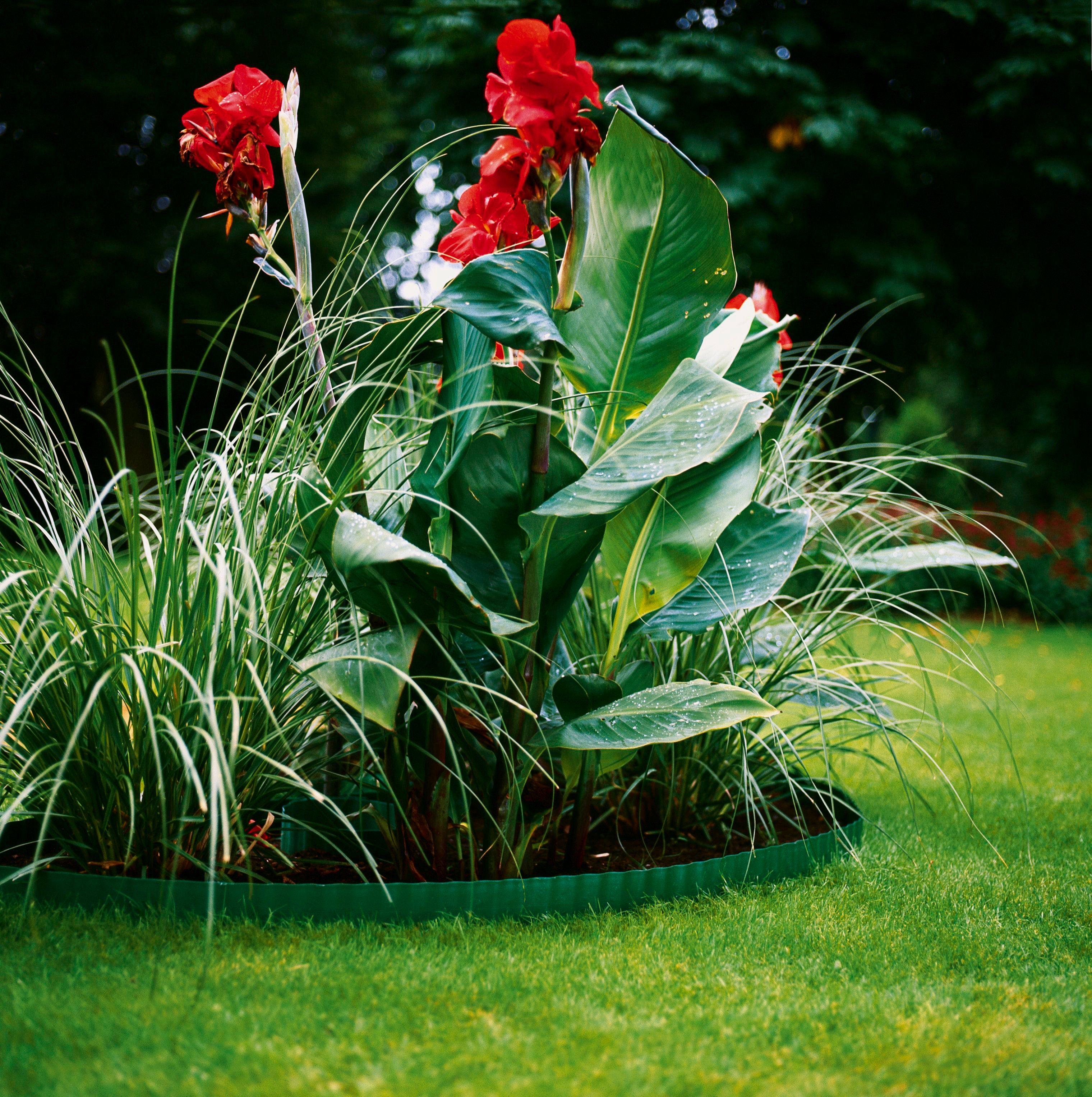 GARDENA Raseneinfassung , grün, Höhe: 9 cm
