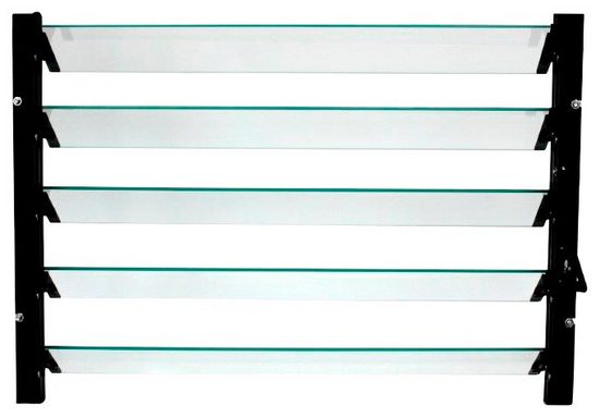 VITAVIA Lamellen-Wandfenster , schwarz, BxH: 61x45 cm