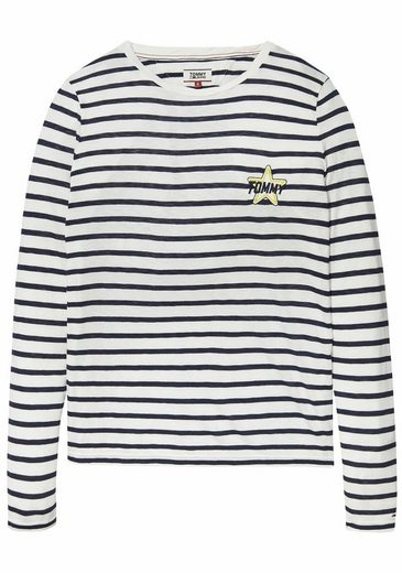 TOMMY JEANS Rundhalsshirt, mit Badge + Stickerei