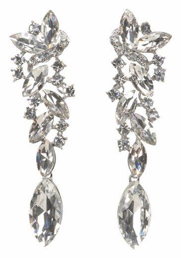 J.Jayz Paar Ohrstecker »Glamouröses Design« (1-tlg), mit großen funkelnden Glassteinen