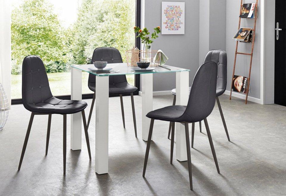 Essgruppe, Set, 5 tlg, mit Glastisch, Breite 80 cm online kaufen   OTTO