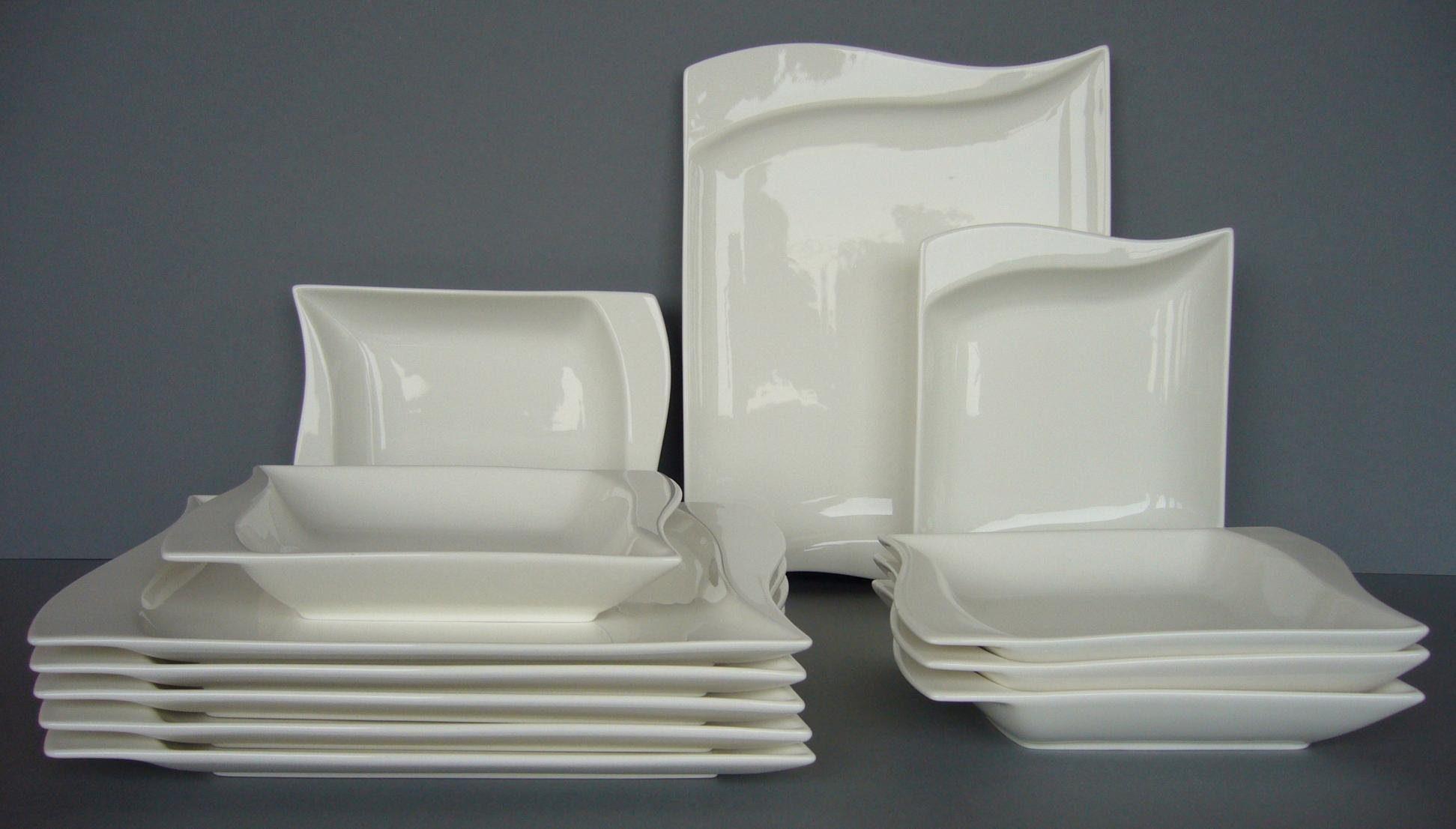 Van Well Tafelservice, Porzellan, 12 Teile, für 6 Personen, »Harmony«