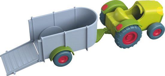Haba Spielzeug-Traktor »Little Friends - Traktor mit Anhänger«