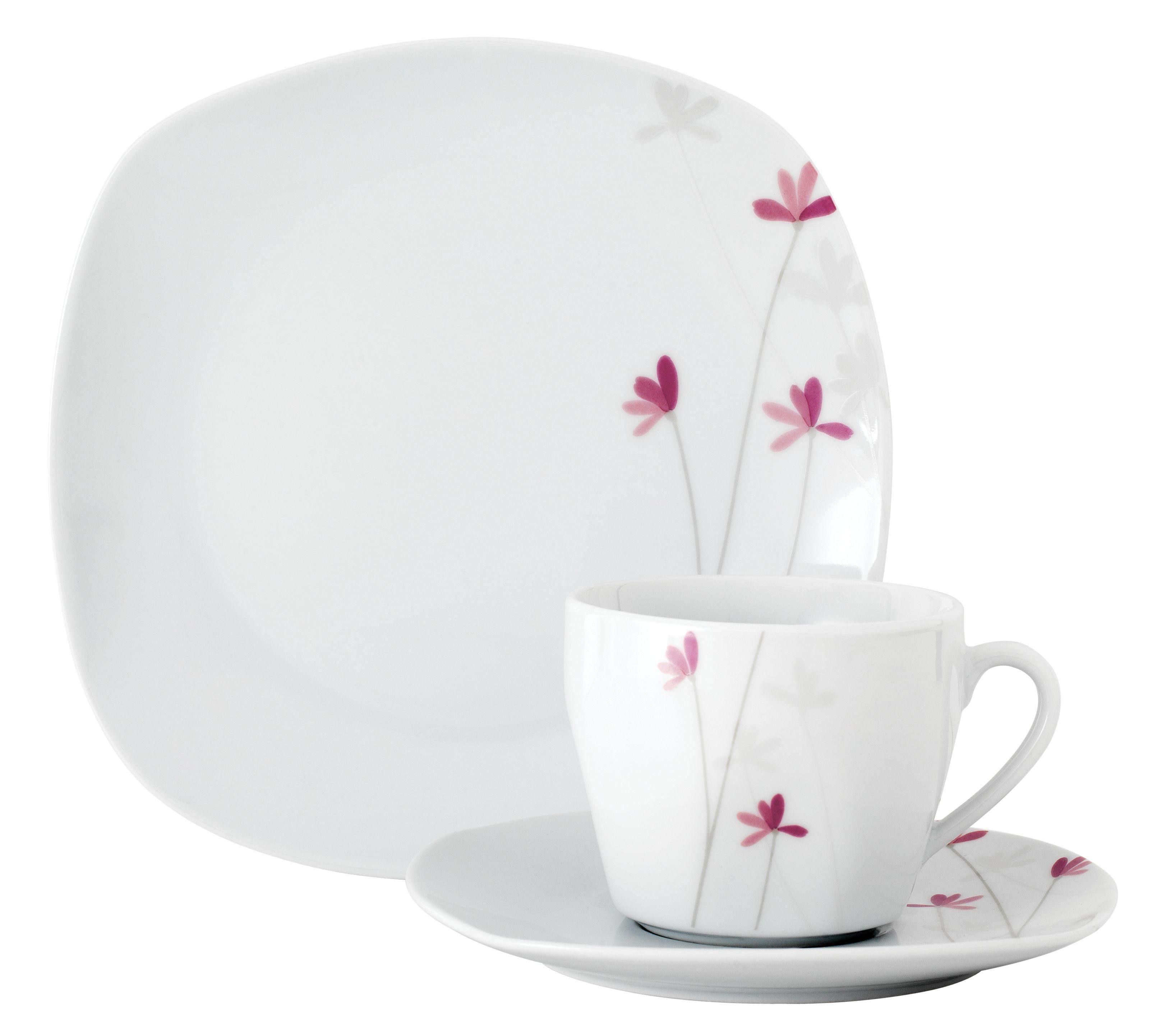 Van Well Kaffeeservice, Porzellan, 18 Teile, für 6 Personen, »Colette«