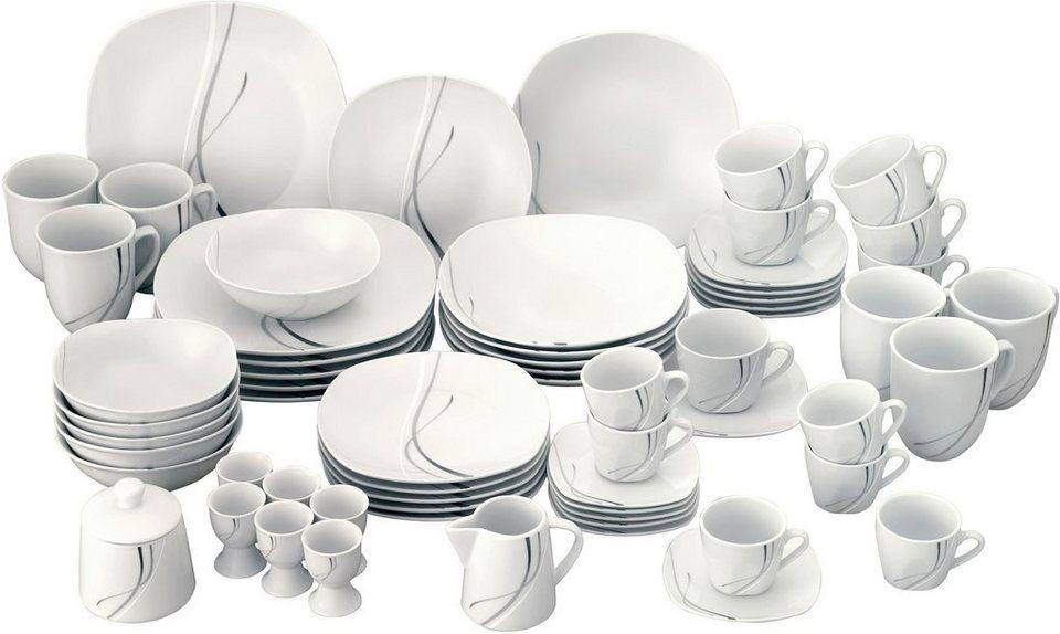 van well kombiservice silver night 62 tlg porzellan sp lmaschinengeeignet online kaufen otto. Black Bedroom Furniture Sets. Home Design Ideas