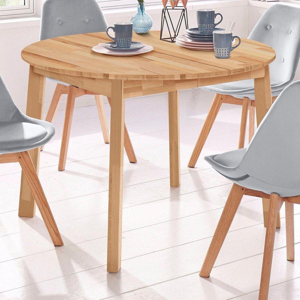 Esstisch rund skagen breite 110 cm mit auszugsfunktion for Esstisch hochwertig