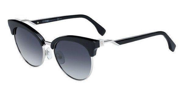 FENDI Fendi Damen Sonnenbrille » FF 0229/S«, schwarz, 807/9O - schwarz/grau
