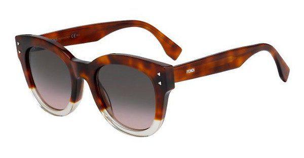 FENDI Fendi Damen Sonnenbrille » FF 0239/S«, schwarz, 71C/FQ - schwarz/ gold