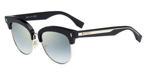 FENDI Fendi Damen Sonnenbrille » FF 0154/S«, schwarz, VJG/EZ - schwarz/ grau